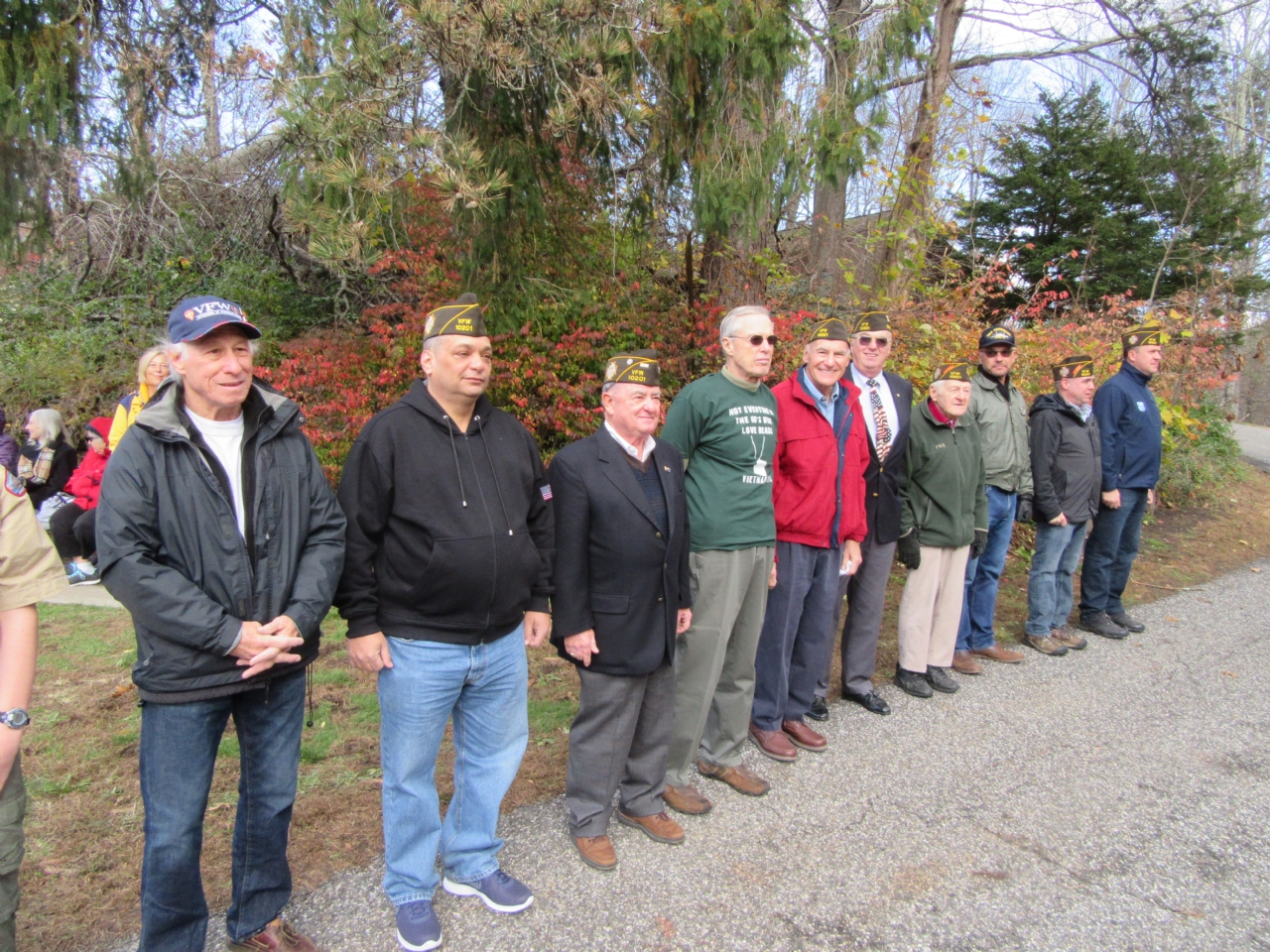 Members of VFW Post 10201 attending the Veterans Day Ceremony.
